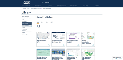United States Census Interactive Gallery